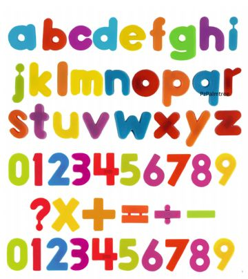 Magnetic Alphabet & Numbers Fridge Learning Teaching Fridge Set
